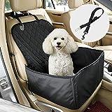 Leeko ペット ドライブシート カーシート シートカバー ドライブボックス キャリーバッグ ナイロン製 助手席用 滑り止め PU防水 汚れに強い 水洗い可能 折り畳み可 2WAY お出かけ 小型犬用 中型犬用 大型犬用 ブラック