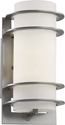Trans Globe Imports 40204 SL Contemporary Modern One Light Wall Lantern from Zephyr Collection in Pwt, Nckl, B S, Slvr. Finish, Silver