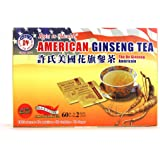 Hsu's Ginseng SKU 1039 | American Ginseng Tea, 60ct | Cultivated American Ginseng from Marathon County, Wisconsin USA | 许氏花旗参 | 60ct Box, 西洋参, B000153R4K