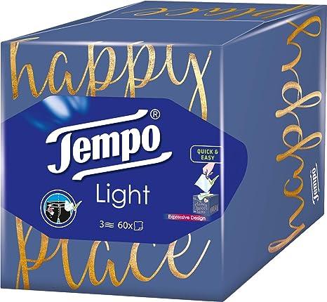 negozi popolari offerta speciale ultima moda Tempo Lightbox Fazzoletti, Pacco da 6 Scatole (6 x 60 Fazzoletti ...