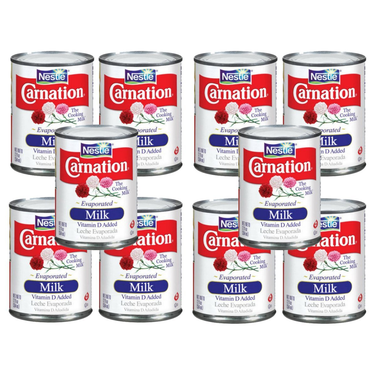 Amazon.com : Nestlé Carnation Evaporated Milk 12oz (Pack of 10) : Grocery & Gourmet Food