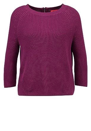 BOSS Hugo Damen Pullover Sirina Mit 3 4-Arm, Strickpullover Violett ... 588e065185