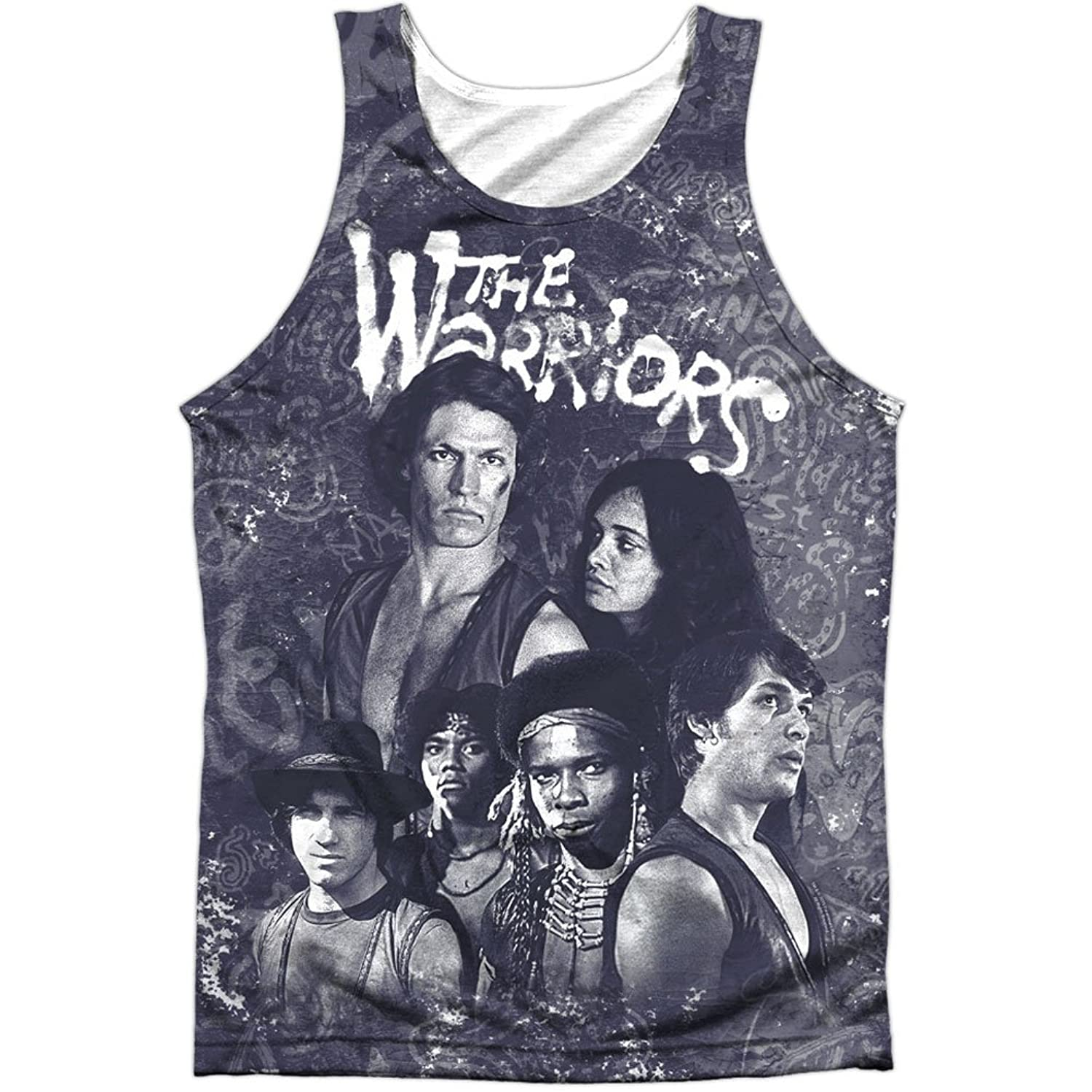 The Warriors New York Gang Thriller Film Cast Collage Front Print Tank Top Shirt