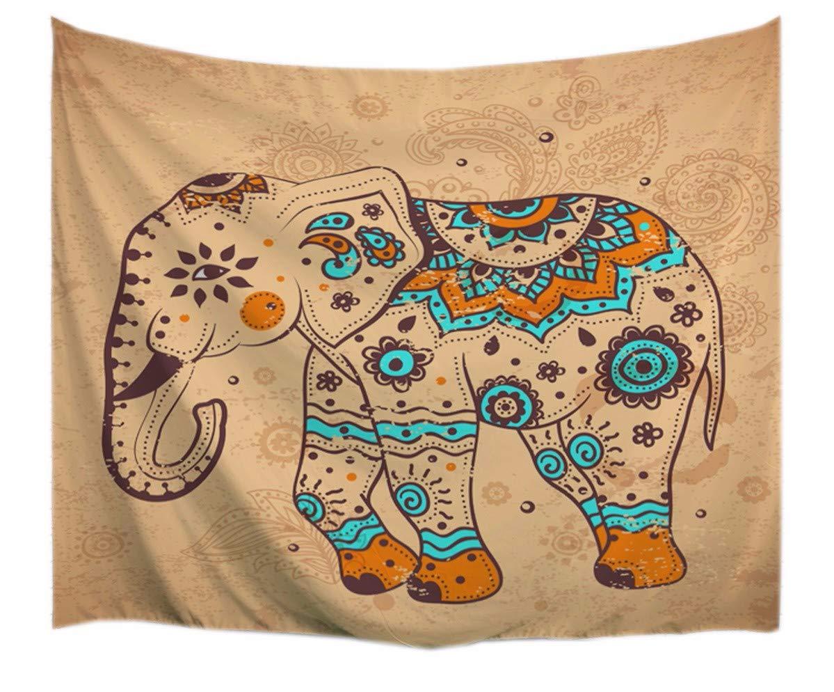 A.Monamour Marrón Indio Mandala Tribal Elefante Tatuaje Impresión ...