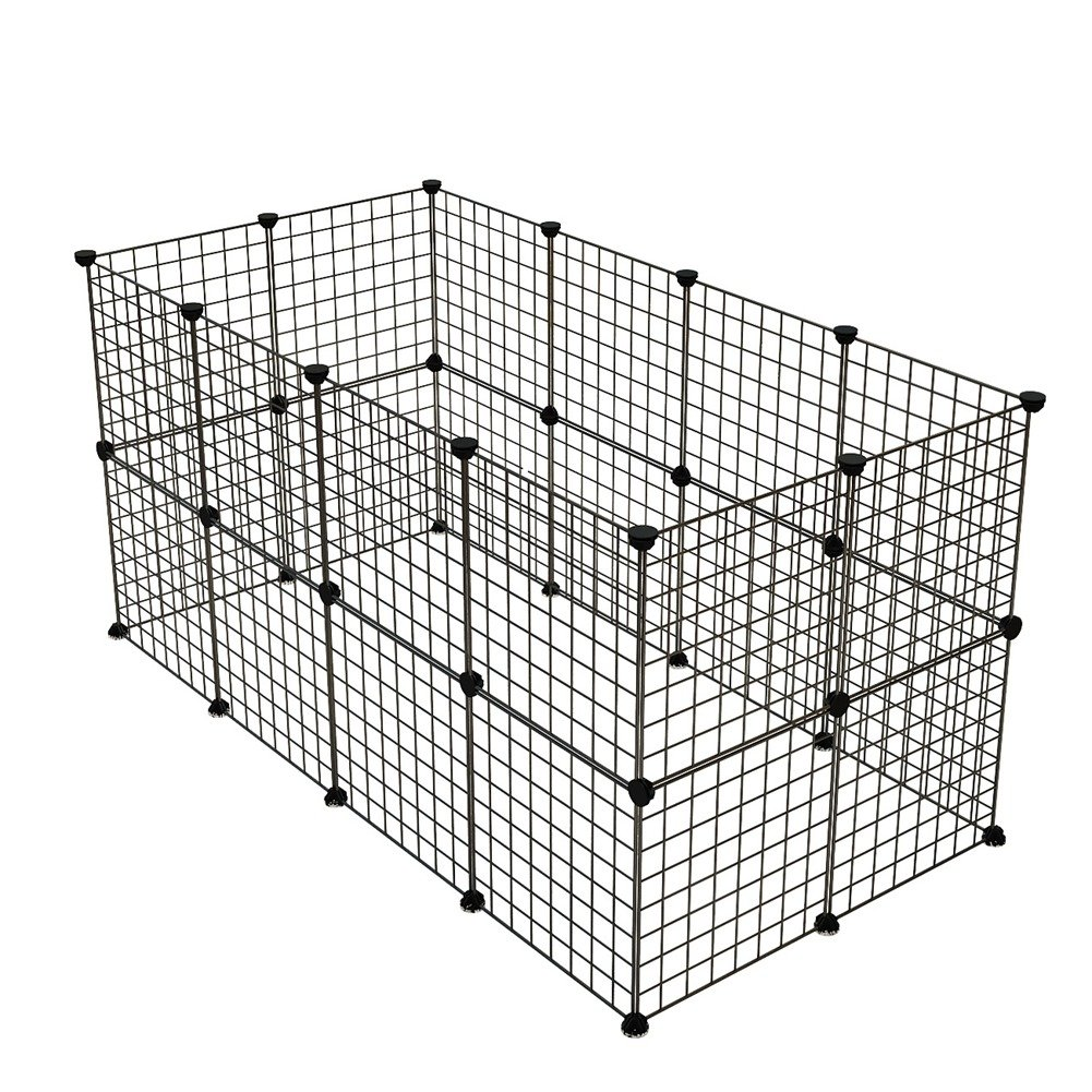 KOUSI Small Pet Pen Bunny Cage Dogs Playpen Indoor Out Door Animal Fence Puppy Guinea Pigs, Dwarf Rabbits, 24 Panels