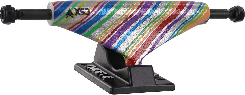 Theeve CSX Rainbox Skateboard Trucks 5.25 Hanger 8.0 Axle with 1 Black Hardware