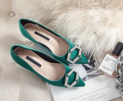 7effb5298601b Amazon.com: LUCKY CLOVER-CC High Heels Rhinestone Sandals Ladies ...