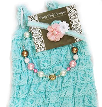 7dd148b1a34b Baby Girl Lace Romper Set- Baby Birthday Outfit Photo Prop by Pretty Baby  Bowtique (