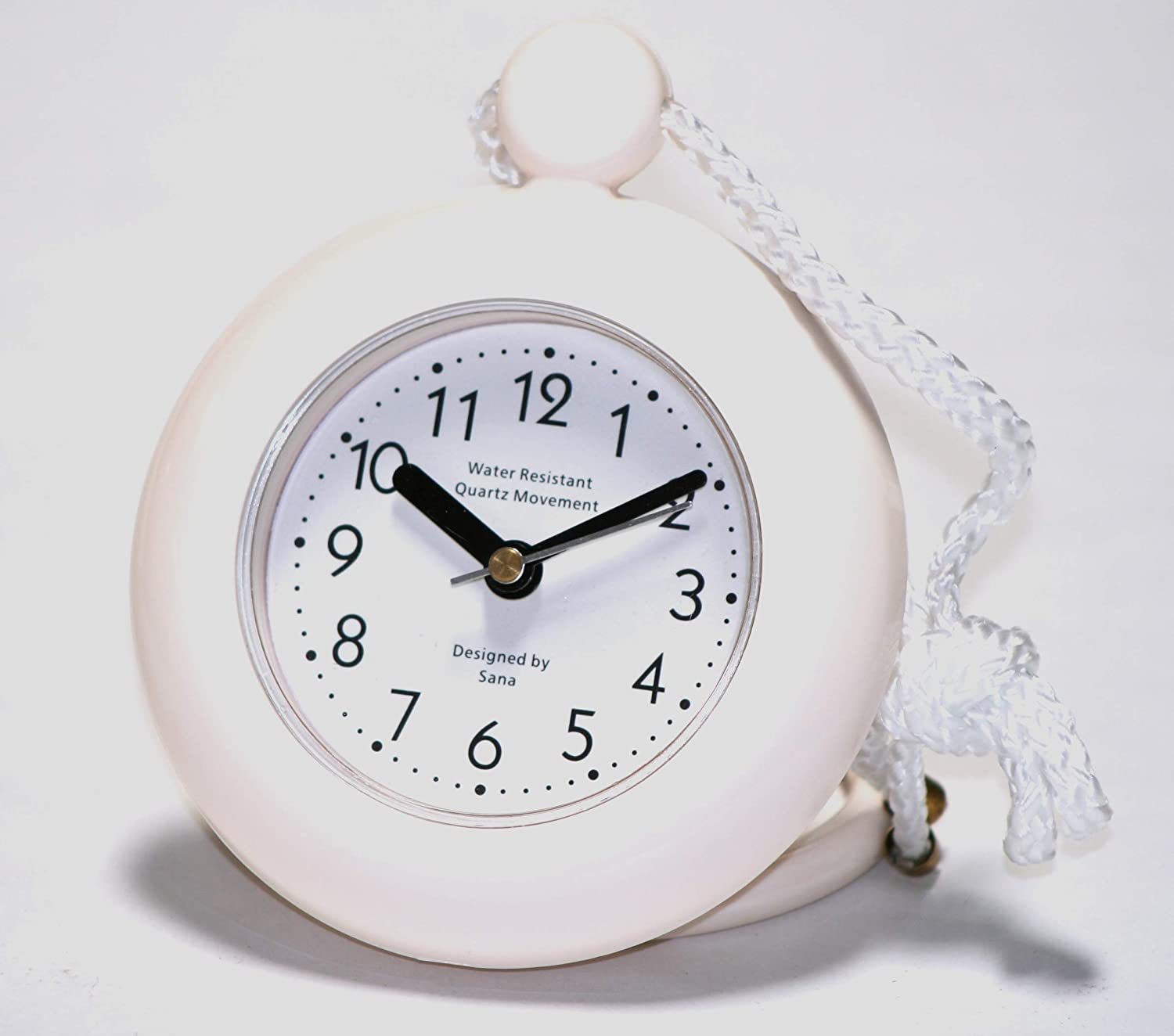 Our White Bathroom Shower Rope Clock