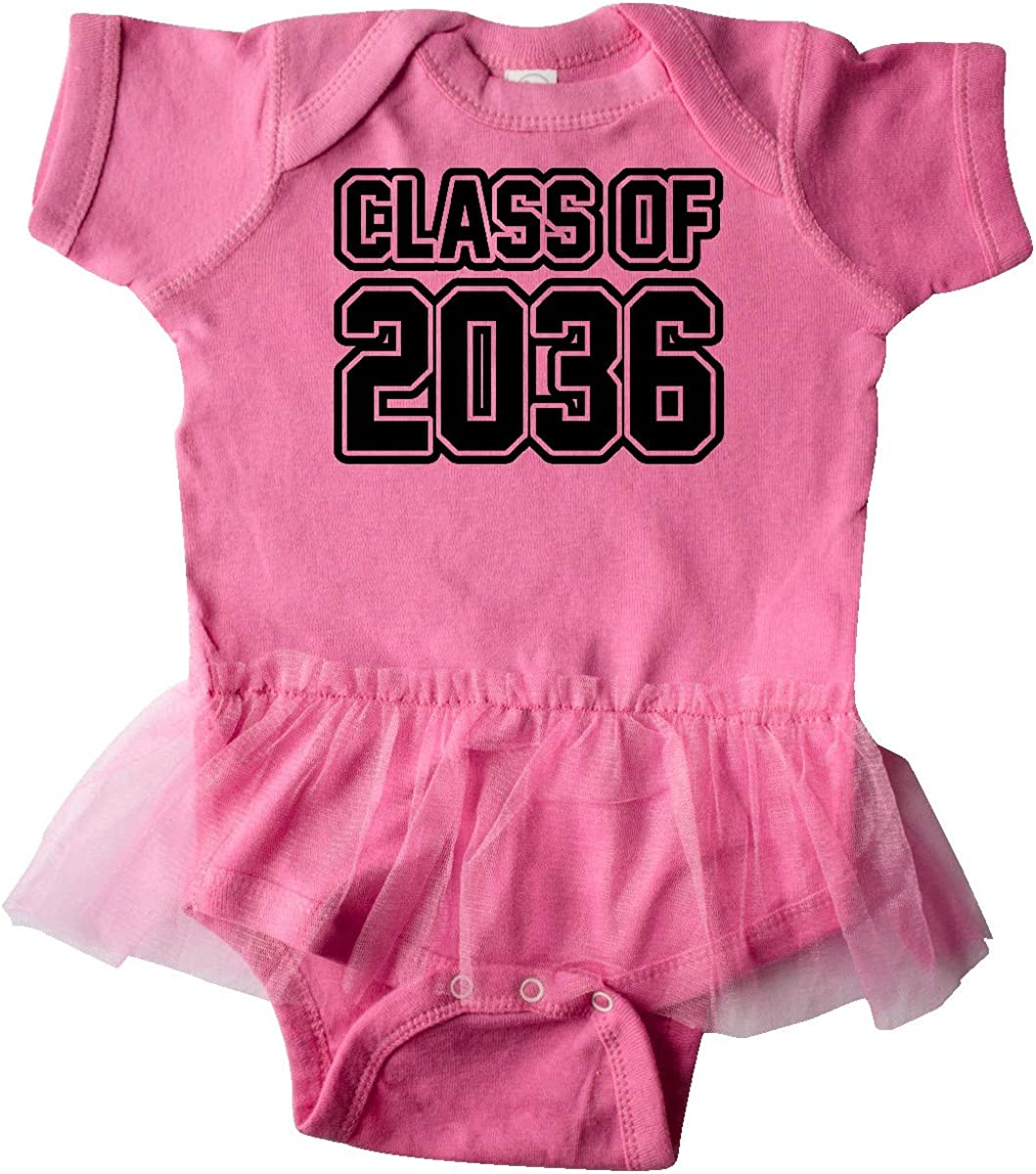 inktastic Class of 2036 in Black Outlined Text Infant Tutu Bodysuit