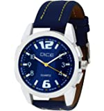 """Dice """"Alumina-1771"""" Casual Round Shaped Wrist Watch For Men. Fitted with Beautiful Blue Color Dial and Anti-Allergic Leather Strap"""