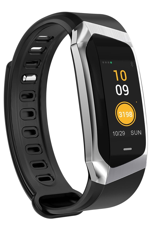 Fitness trackerハートレートモニター血圧Activity Tracker腕時計歩数計Bluetoothスマートブレスレット B07DRDGJS6