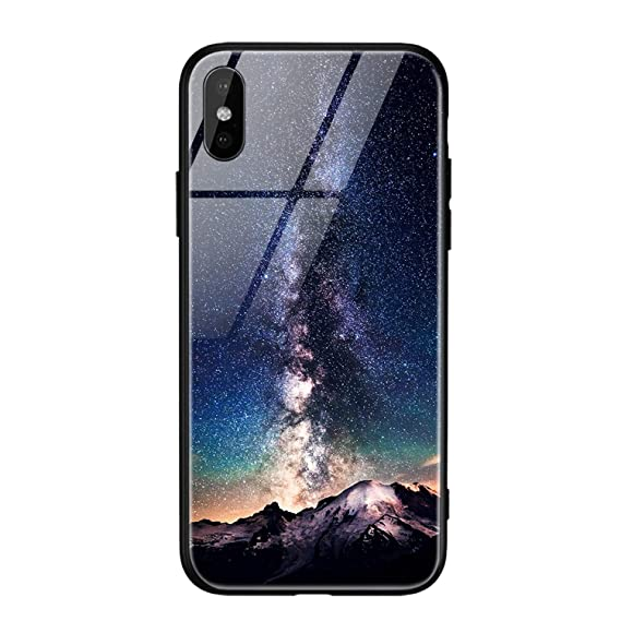 Amazon.com: Glass Phone Case iPhone X 7 8 10 6 s XS Star ...