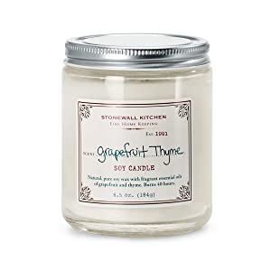 Stonewall Kitchen Grapefruit Thyme Soy Candle, 6.5 Ounce Jar
