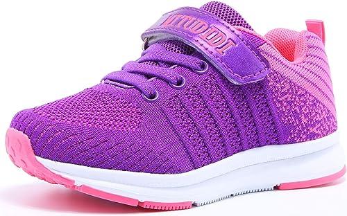 Baloncesto Trainers Niñas Velcro Zapatillas Niños de Deporte Niña Zapatillas de Correr Niño Zapatillas de Gimnasia Tenis Zapatillas Trotar Runners Running Zapatillas Zapatos Morado 36 EU: Amazon.es: Zapatos y complementos