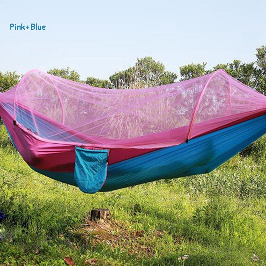 rosebleu  XHL Art Hamac De Camping Extérieur portable avec des Moustiquaires De Tissu De Parachute De Moustiquaire Lits Accrochant La Tente d'arbre De Lit De Sommeil De Balançoire