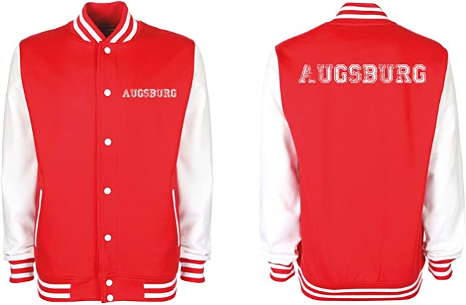 College Jacke Augsburg Baseball Jacke Damen Herren XS-3XL