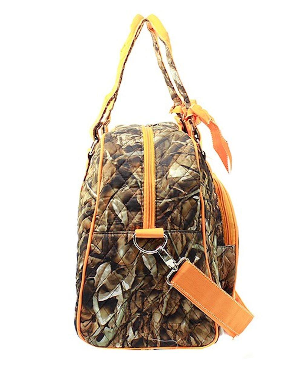 Gil Quilted Weekender Duffel Bag Bloom Damask Coral N