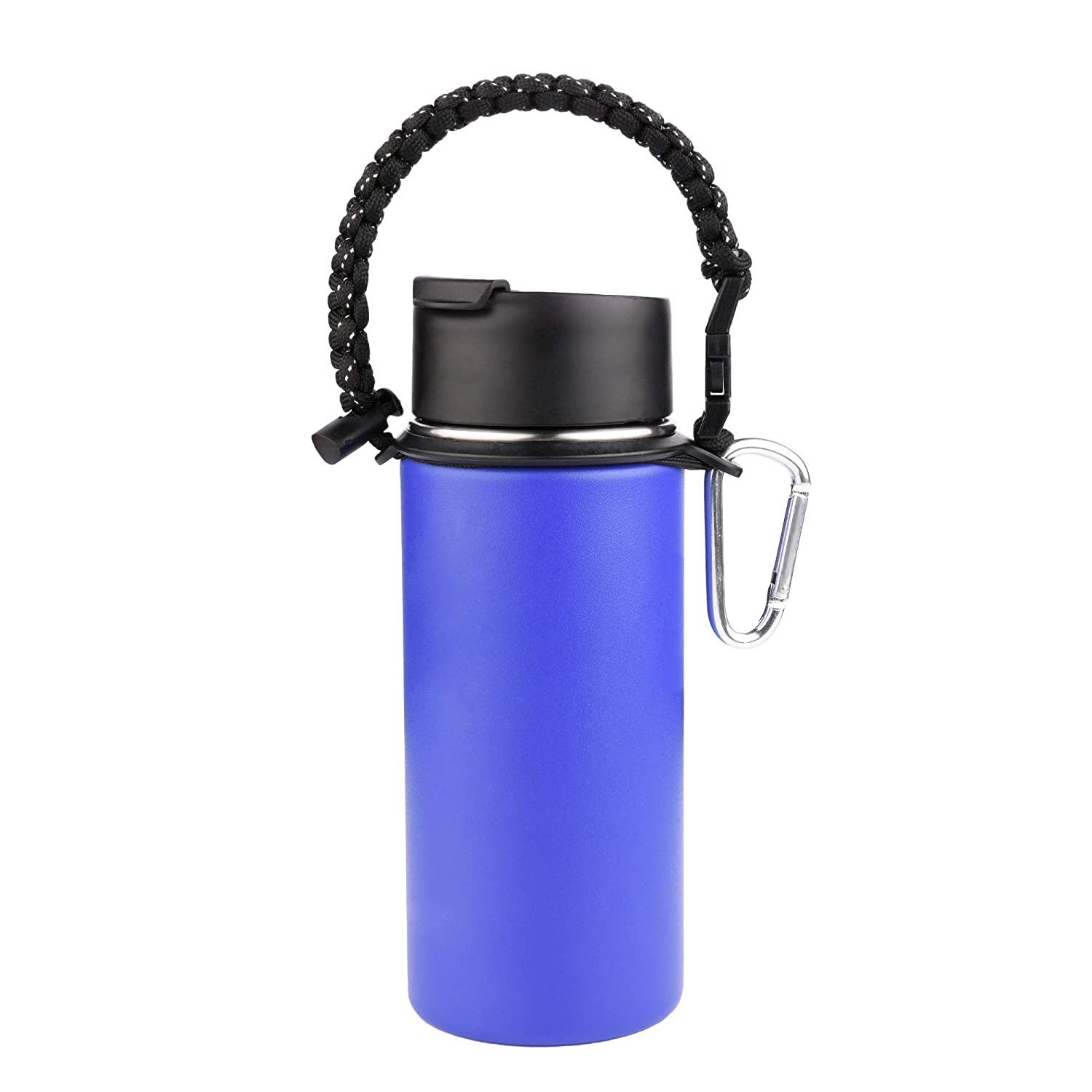 CM Cosmos Water Bottle Paracord Flask Holder Strap with Carabiner for Wide Mouth Bottles Outdoor Sport Hiking