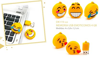 Memoria USB Emoticonos Emojis 4 GB (Cadena no incluida) - Memorias USB Pendrive Originales