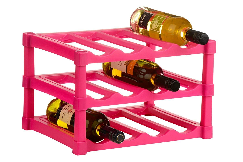 blau Premier Housewares 0806544 Wein Regal 12 Flaschen