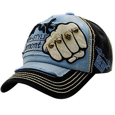 6dc3e90516c2a Jimmkey Unisex Embroidered Summer Rivet Cap Hats For Men Women Casual Hat  Hip Hop Baseball Caps