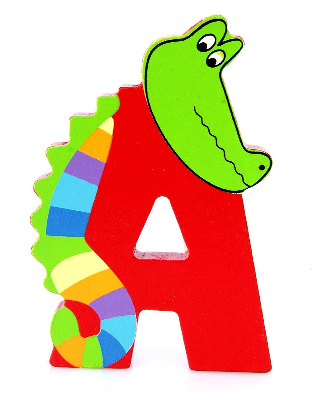 Orange Tree Toys : Wooden Letter A for Alligator LA165