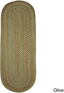 product image for Rhody Rug Cozy Cove Indoor/Outdoor Oval Braided Rug by (2' x 6') Olive