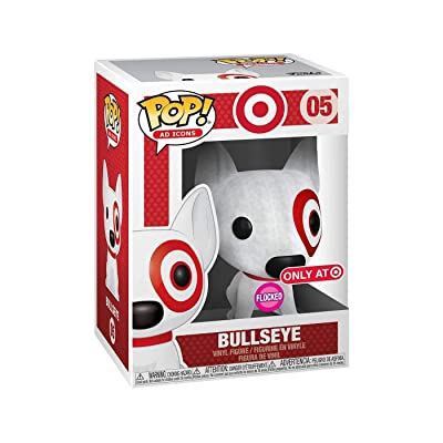 Funko POP! Ad Icons: Target - Bullseye (Flocked with Red Collar) (Target Exclusive): Toys & Games