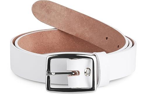 Merry Style Cinturón de cuero para mujer 3 cm Breit D41