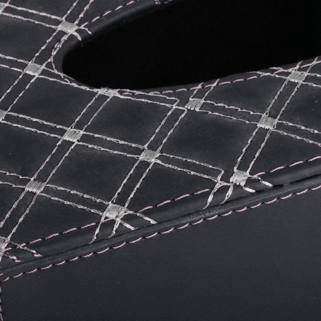 Cikuso Voiture Boite a mouchoirs Boites a Tissus Design PU Cuir Support