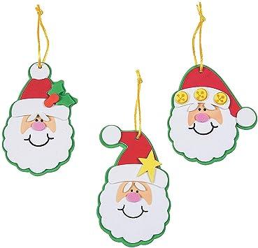 Childrens Christmas Craft Kits POM POM ART /& CRAFT Santa// Reindeer Xmas Kids Art