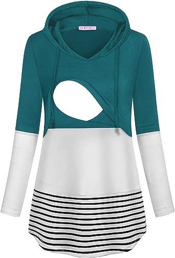 JOYMOM Maternity Winter Nursing Hoodie Breastfeeding Shirt for Women