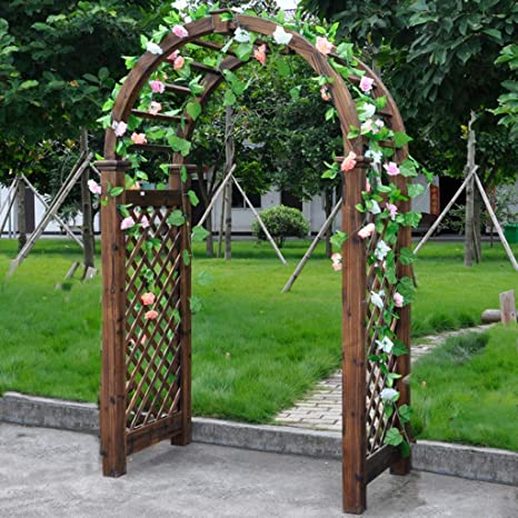 XLOO Garden Arch, Garden Arbor Abeto sobre Alto al Aire Libre ...