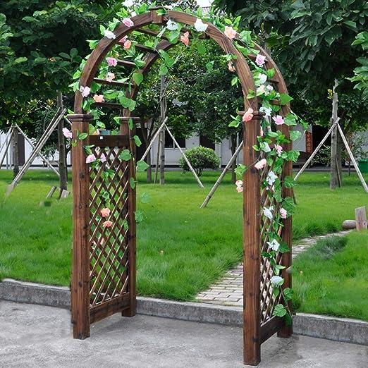 XLOO Garden Arch, Garden Arbor Abeto sobre Alto al Aire Libre Patio pérgola Enrejado, Gran tamaño, Resistente al Agua, Control de Insectos, para Varias Plantas trepadoras Wedding Garden Arch: Amazon.es: Hogar