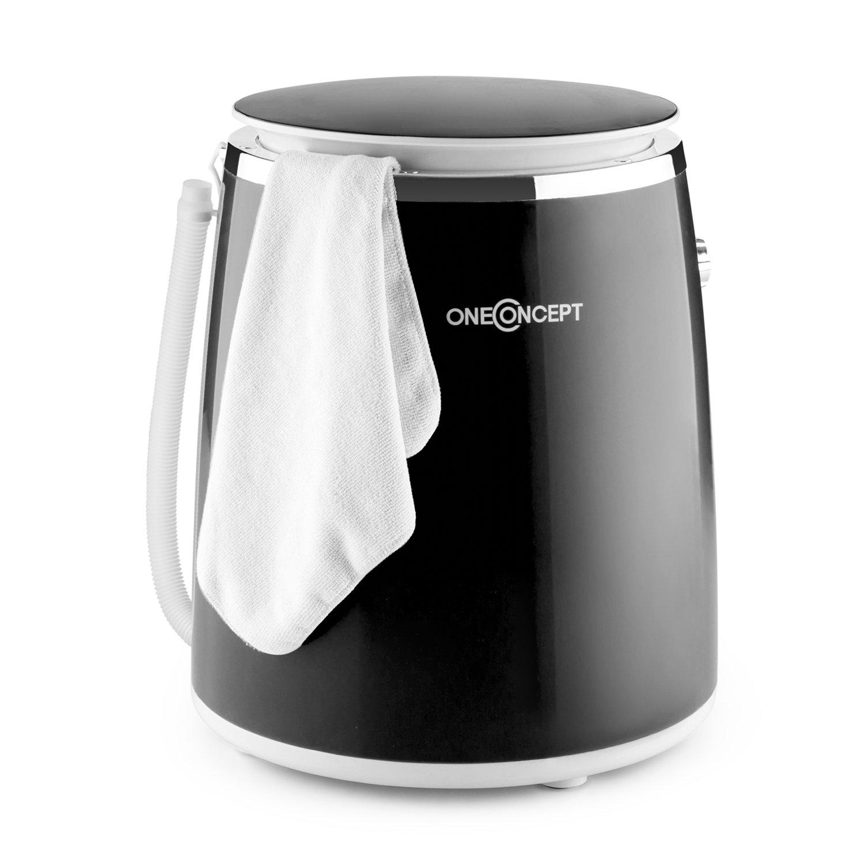 oneConcept Ecowash-Pico • mini lavatrice • campeggio • con funzione centrifuga • carico3, 5 kg • 380 watt • risparmio energetico e acqua • timer • riavvolgimento cavo • maniglia trasporto • blu MNW4-EcowashPicoBI