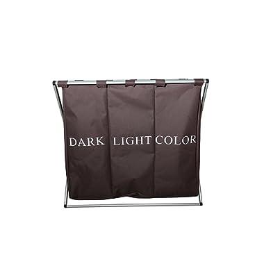 V & H Home Value Triple Compartment Dark/Light/Color Laundry Hamper