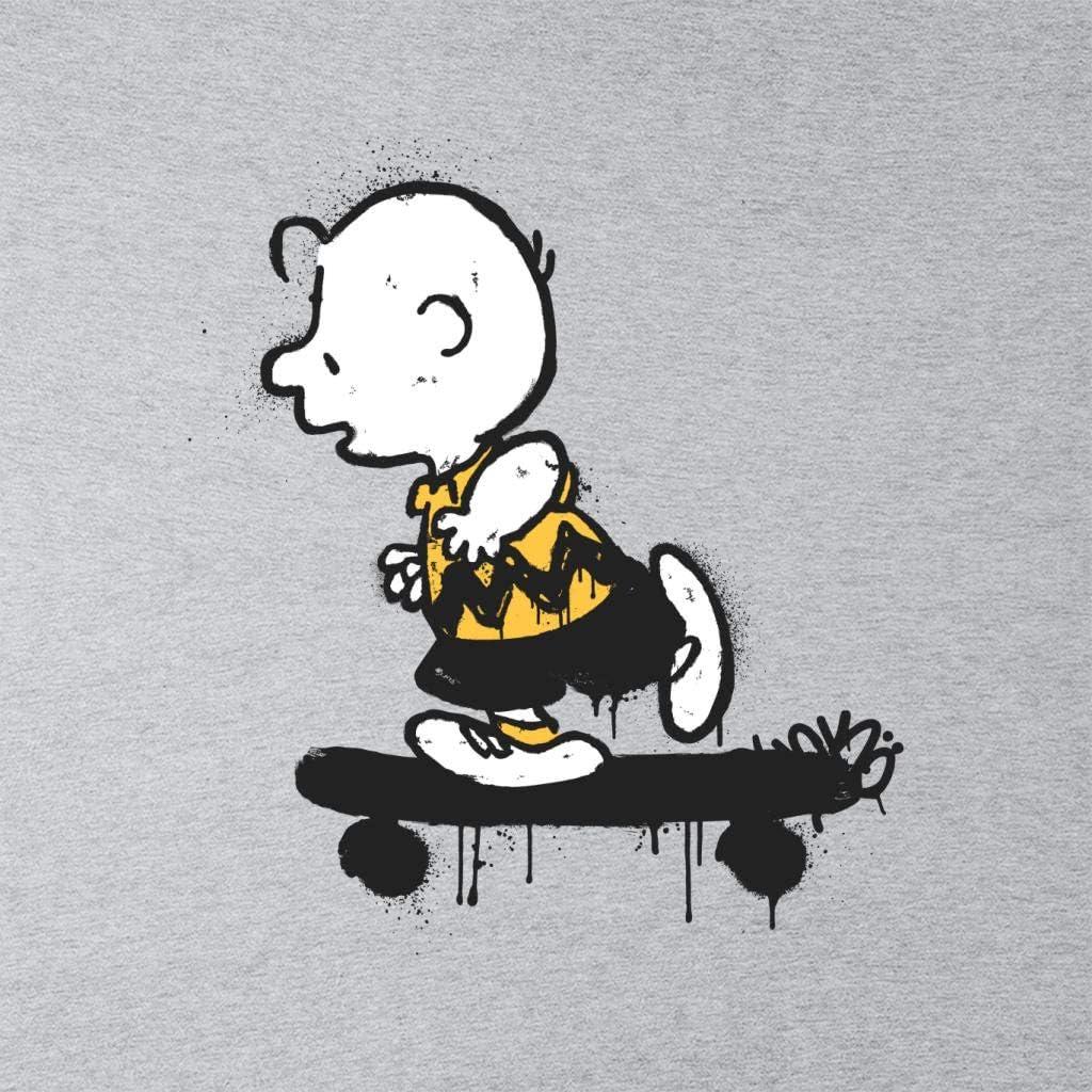 Peanuts Charlie Brown Skateboard Graffiti Mens Hooded Sweatshirt