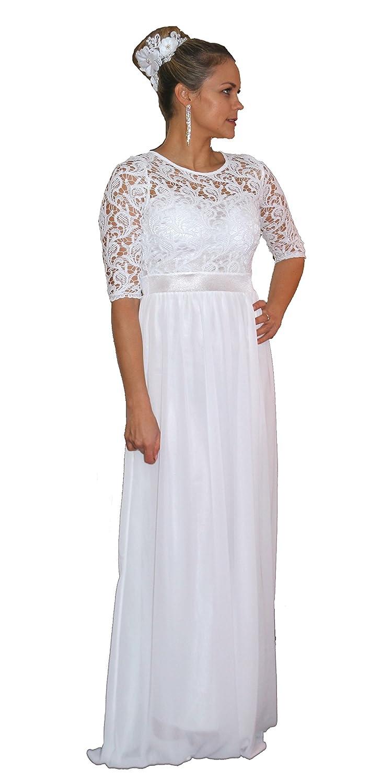 Brautkleid Spitze lang Hochzeitskleid S M L XL XXL XXXL XXXXL Braut Kleid Standesamt Weiß