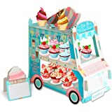 3 Tier Cake Stand | Ice Cream Food Cart Party Decorations| Van Shape Cupcake Stand Holder | For Theme & Birthday Party