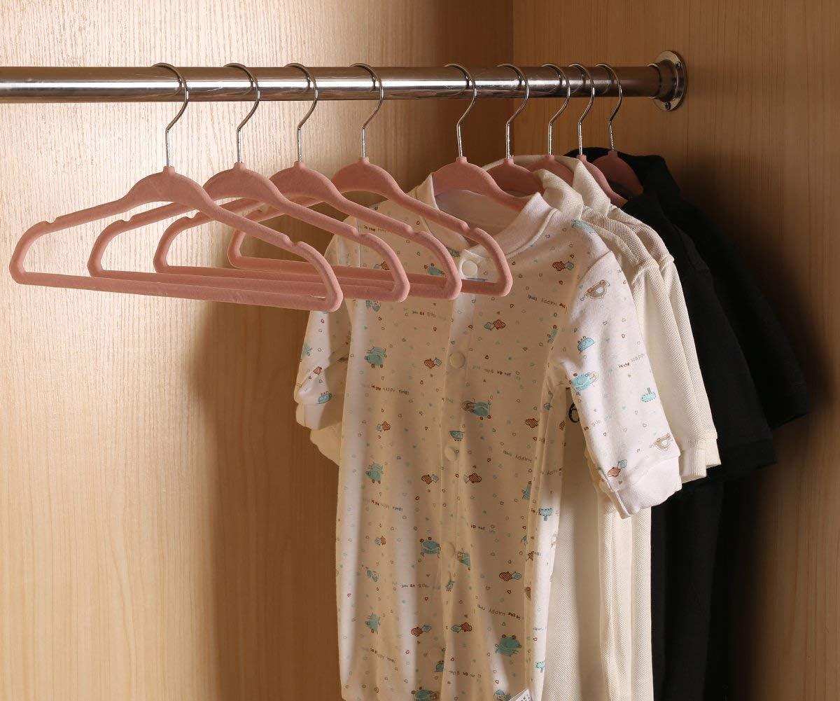 platzsparend Kinder Kleinkinder Kinder Kleiderb/ügel mit 6 St/ück Baby Kleiderschrank Trennw/ände f/ür Kleidung 20 St/ück rutschfest ManGotree Baby Samt Kleiderb/ügel rosa