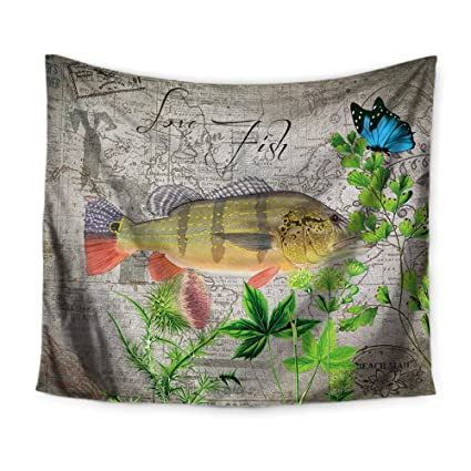 Trout Fishing Tapestry Throw The Latest Fashion Home & Garden