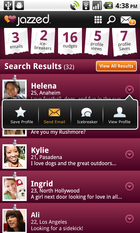 Free Dating Site App - FriendFin Appstore for Android