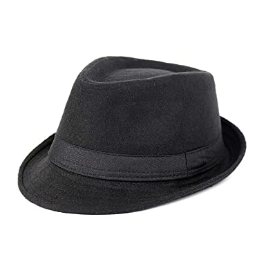 01adf1aa98c35 Men Fedora Hat Felt Hats Men Outdoors Sun top Hat Spring Summer Wool Formal  Hat Solid