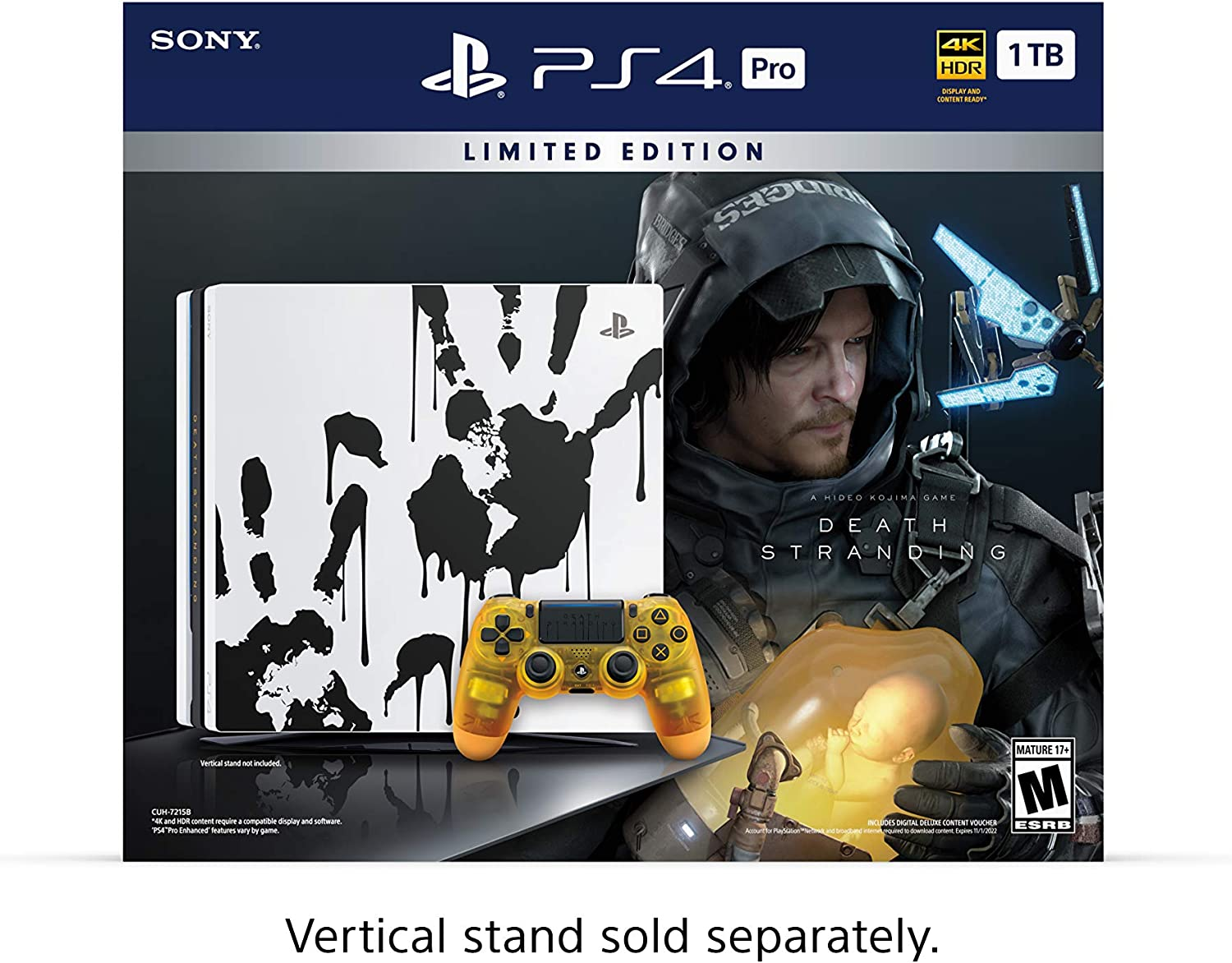 PlayStation 4 Pro 1TB Limited Edition Console – Death Stranding Bundle