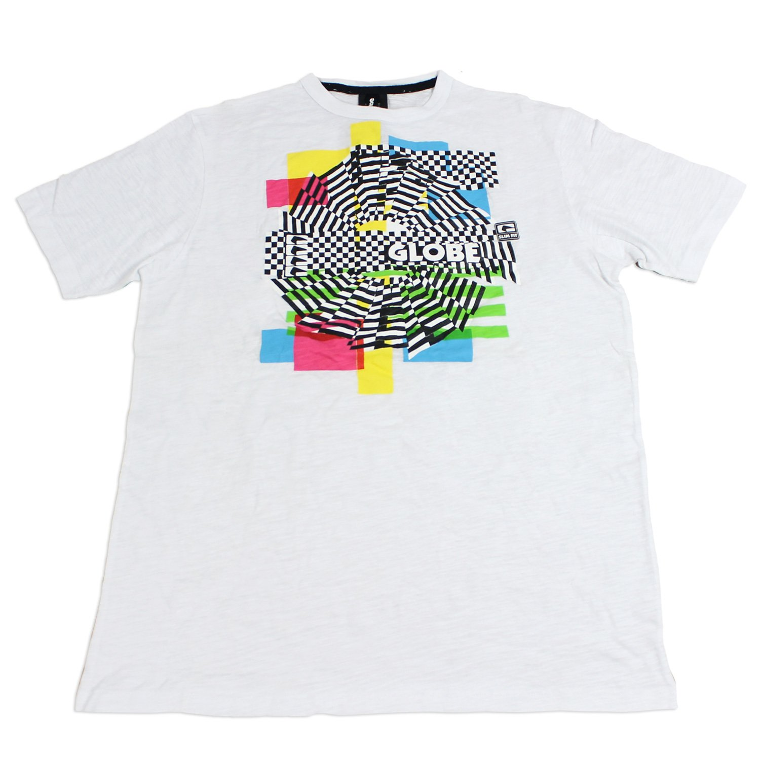 GLOBE Skate Shoes SHIRT CJ 80'S CUSTOM WHITE Sz MED