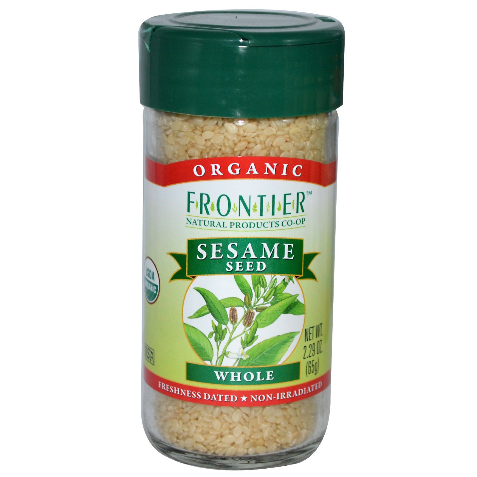 Frontier Natural Products, Organic Sesame Seed, Whole, 2.29 oz (65 g) - 3PC