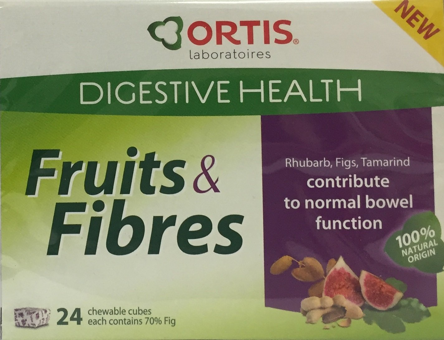 4 X ORTISAN FRUITS & FIBRE CUBES 24 IN A BOX ORTIS