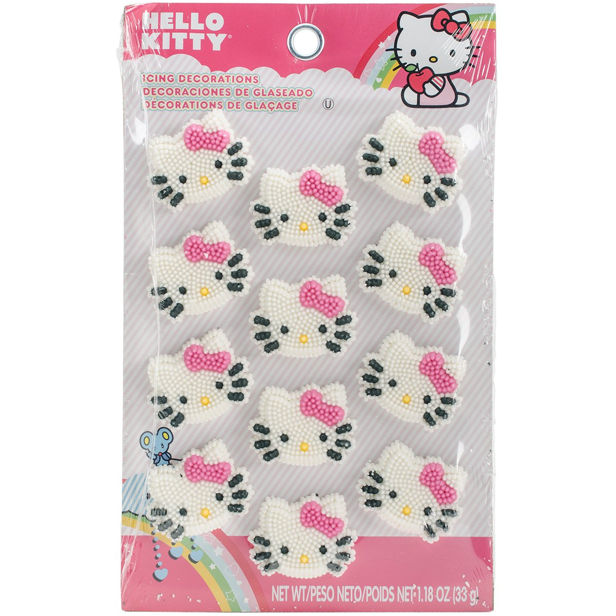 24 Count Hello Kitty Happy Everything Cupcake Cake Rings Party ...