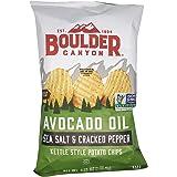 Boulder Canyon Avocado Oil Cut Sea Salt & Cracked Pepper Potato Chips, 5.25 oz